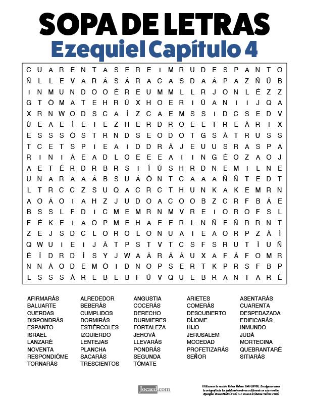 Sopa de Letras - Ezequiel Cápitulo 4