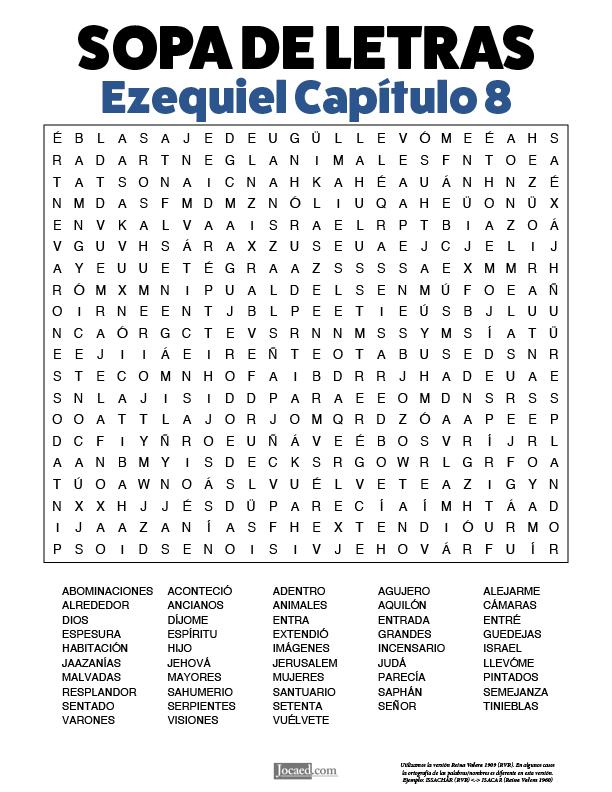Sopa de Letras - Ezequiel Cápitulo 8