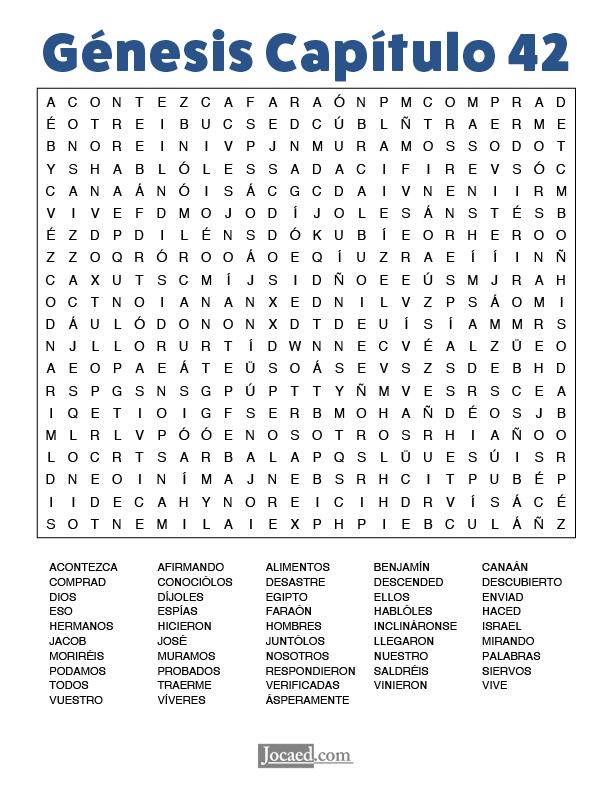 Sopa de Letras - Génesis Cápitulo 42