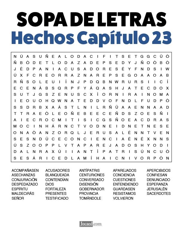 Sopa de Letras - Hechos Cápitulo 23