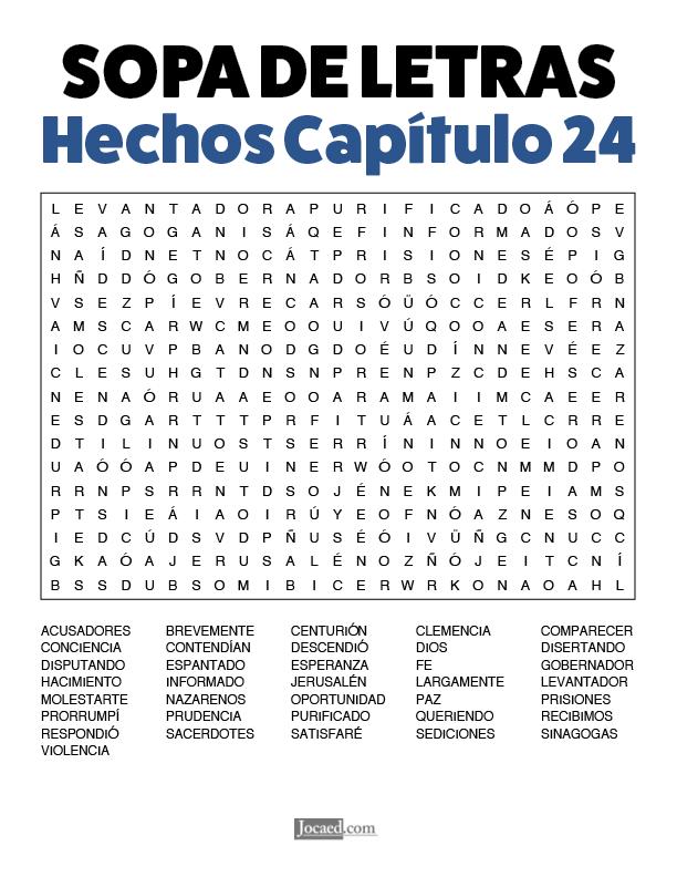 Sopa de Letras - Hechos Cápitulo 24