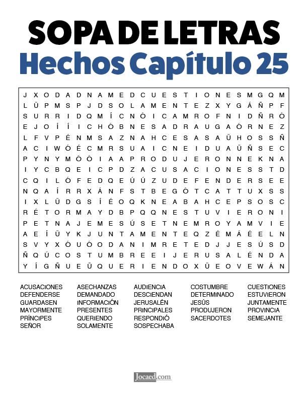 Sopa de Letras - Hechos Cápitulo 25