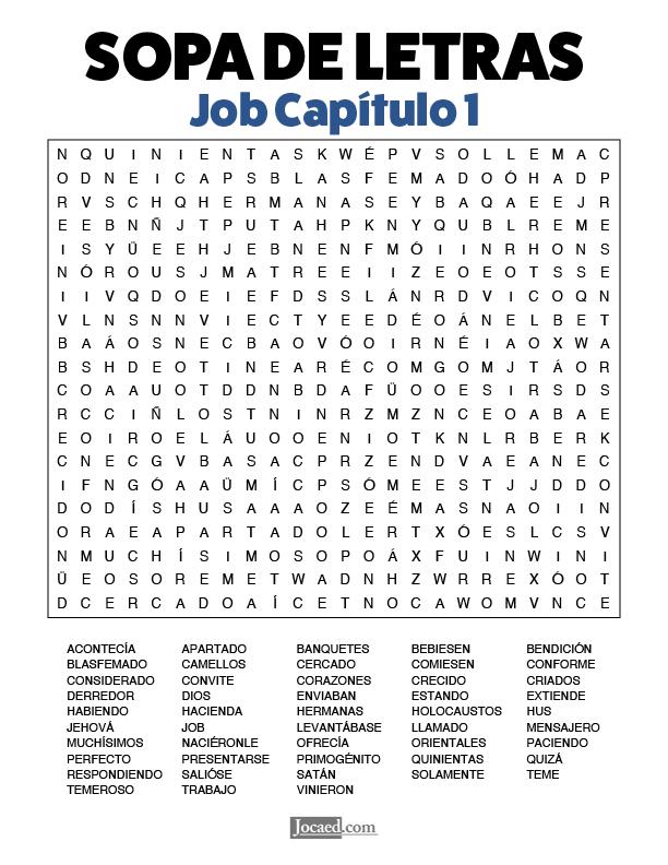 Sopa de Letras - Job Cápitulo 1