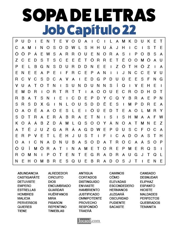 Sopa de Letras - Job Cápitulo 22