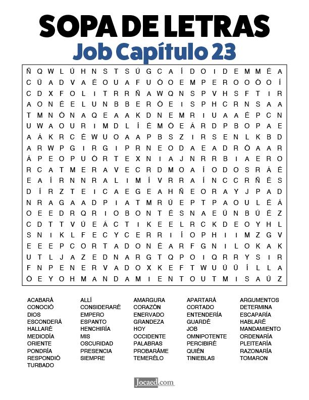 Sopa de Letras - Job Cápitulo 23