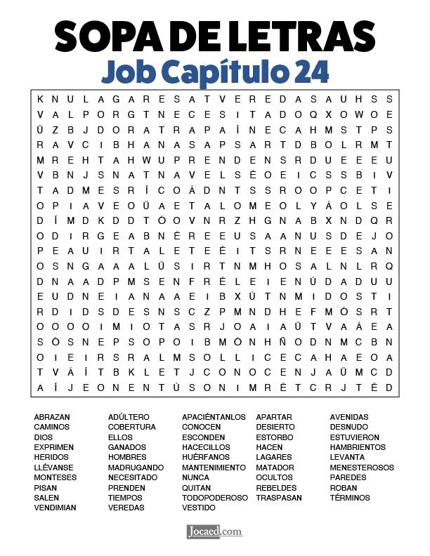 Sopa de Letras - Job Cápitulo 24