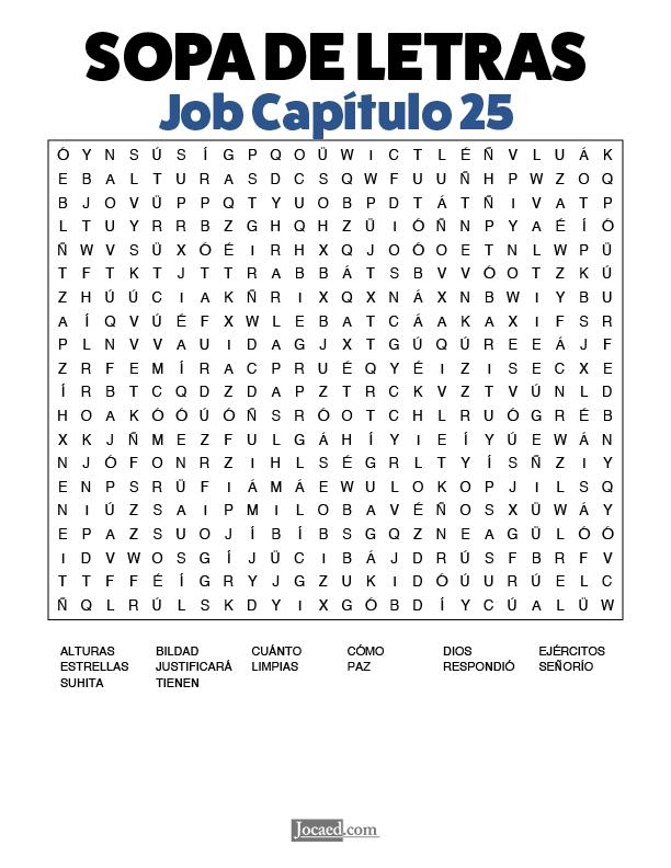Sopa de Letras - Job Cápitulo 25