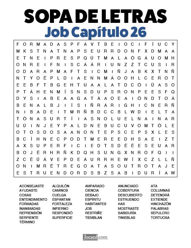 Sopa de Letras - Job Cápitulo 26