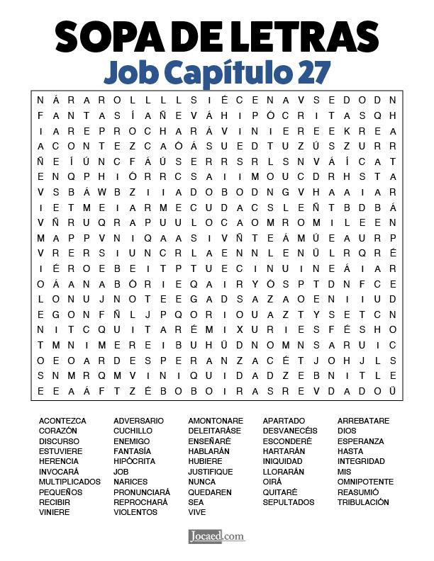 Sopa de Letras - Job Cápitulo 27