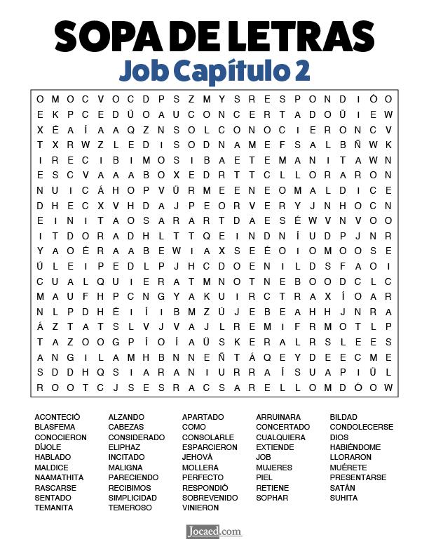 Sopa de Letras - Job Cápitulo 2