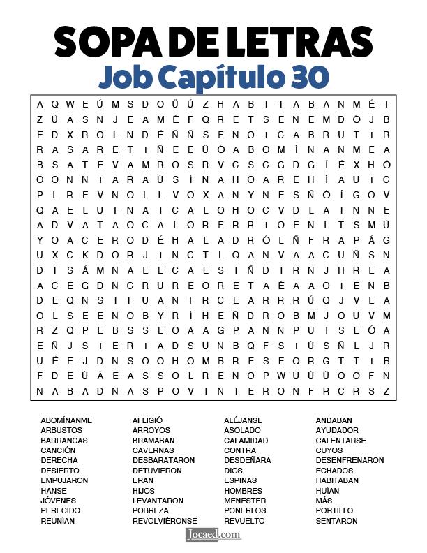 Sopa de Letras - Job Cápitulo 30