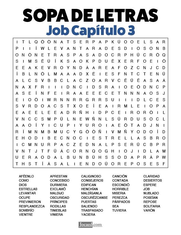 Sopa de Letras - Job Cápitulo 3