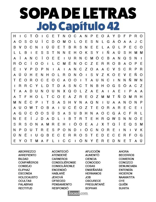 Sopa de Letras - Job Cápitulo 42