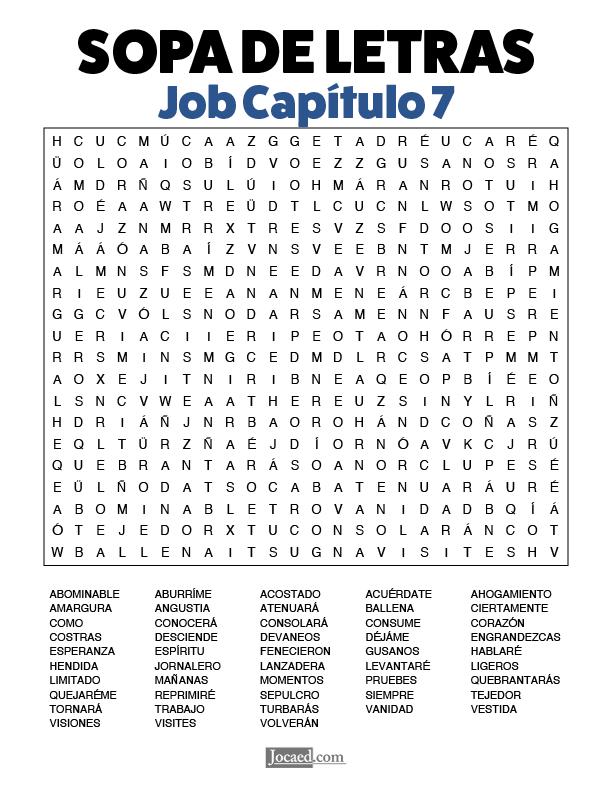 Sopa de Letras - Job Cápitulo 7