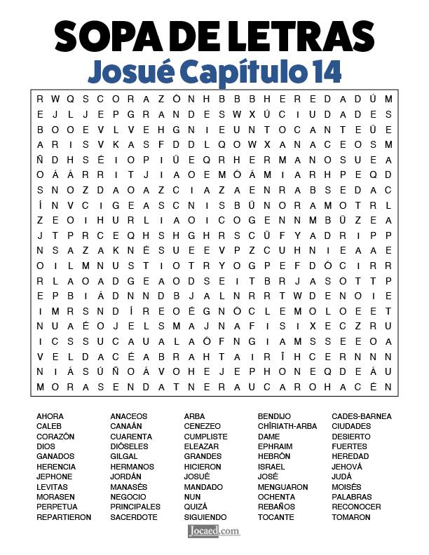 Sopa de Letras - Josué Cápitulo 14