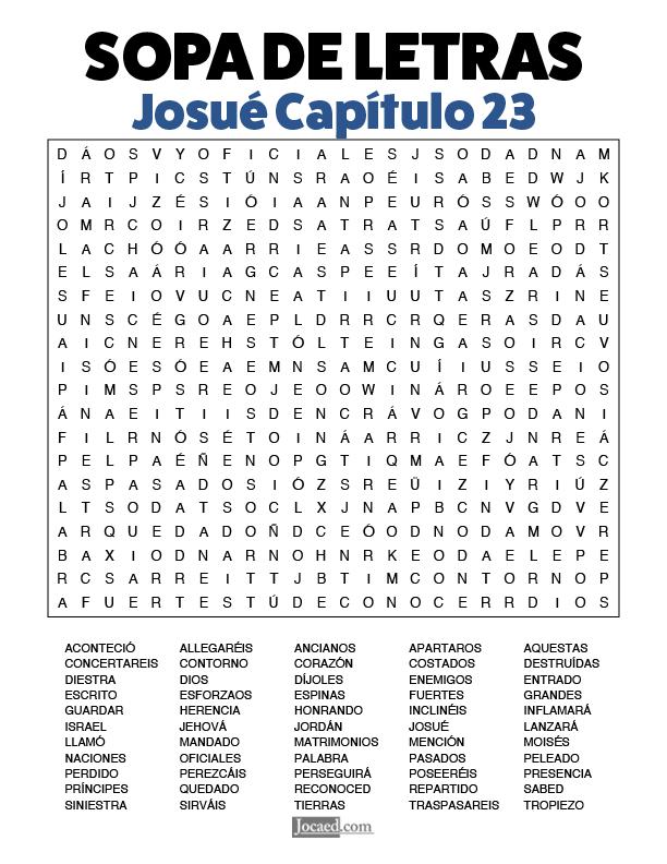 Sopa de Letras - Josué Cápitulo 23