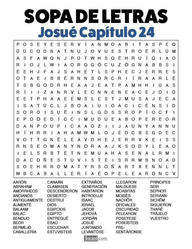 Sopa de Letras - Josué Cápitulo 24