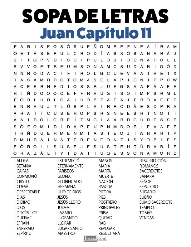 Sopa de Letras - Juan Cápitulo 11