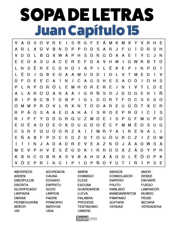 Sopa de Letras - Juan Cápitulo 15