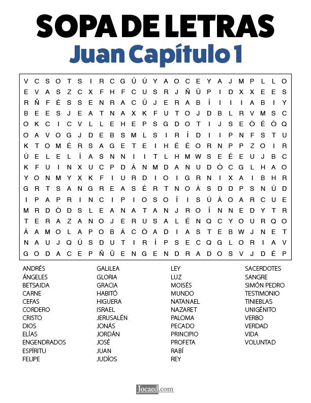 Sopa de Letras - Juan Cápitulo 1