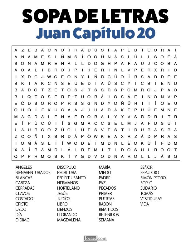 Sopa de Letras - Juan Cápitulo 20