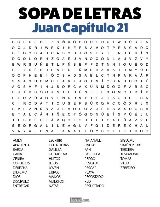 Sopa de Letras - Juan Cápitulo 21