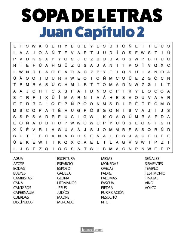 Sopa de Letras - Juan Cápitulo 2