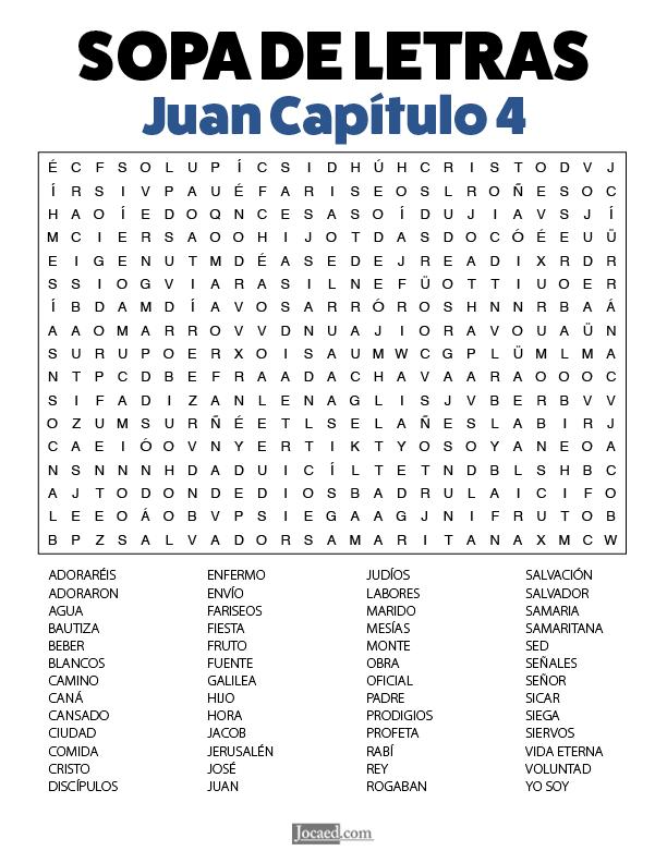Sopa de Letras - Juan Cápitulo 4