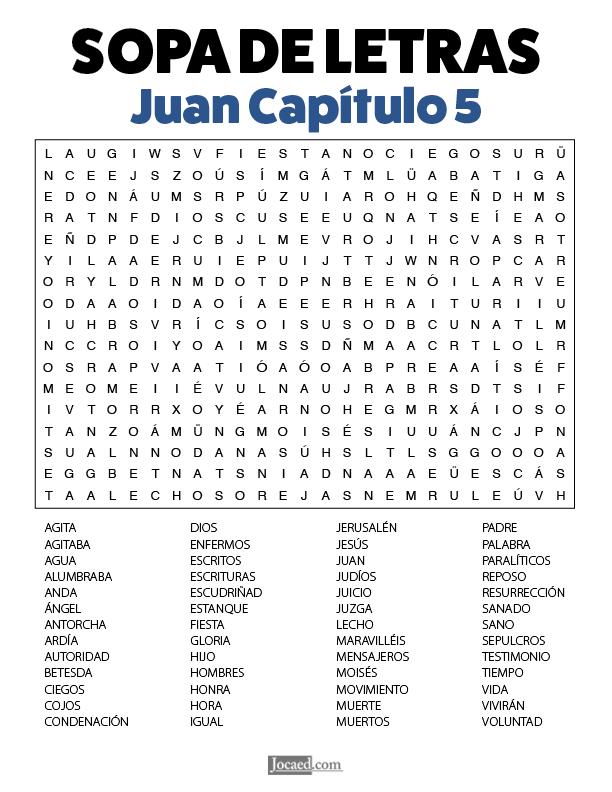 Sopa de Letras - Juan Cápitulo 5