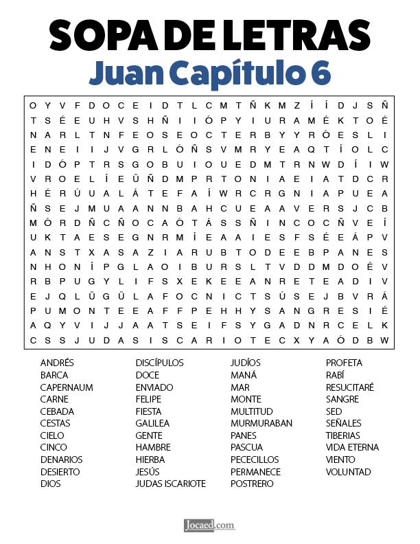 Sopa de Letras - Juan Cápitulo 6