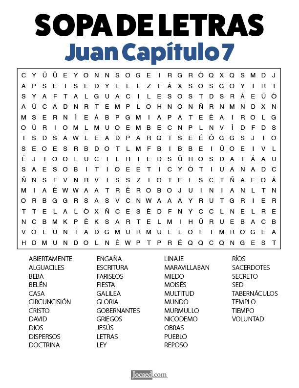 Sopa de Letras - Juan Cápitulo 7
