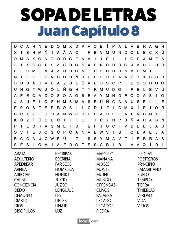 Sopa de Letras - Juan Cápitulo 8