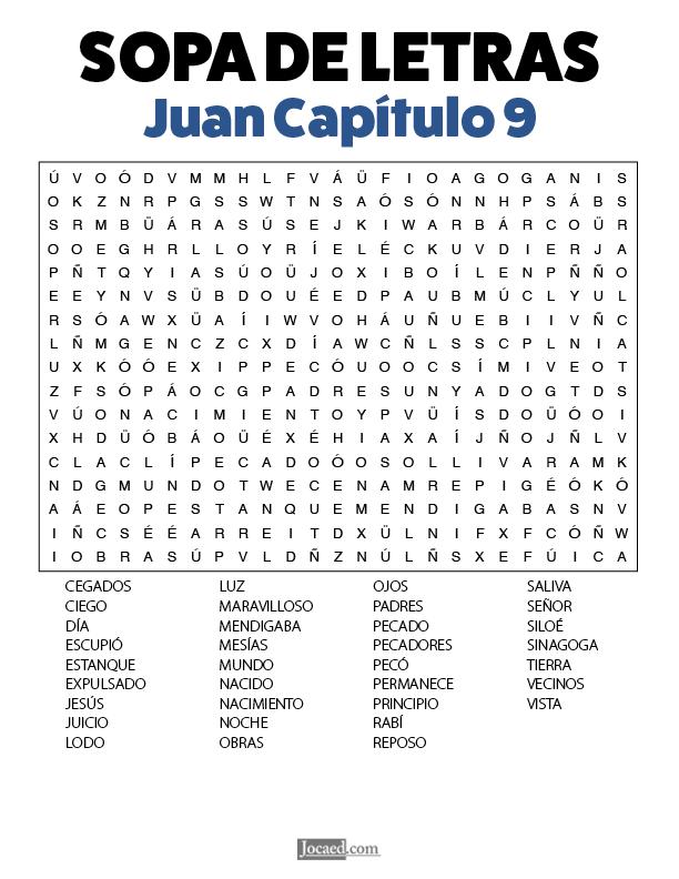 Sopa de Letras - Juan Cápitulo 9