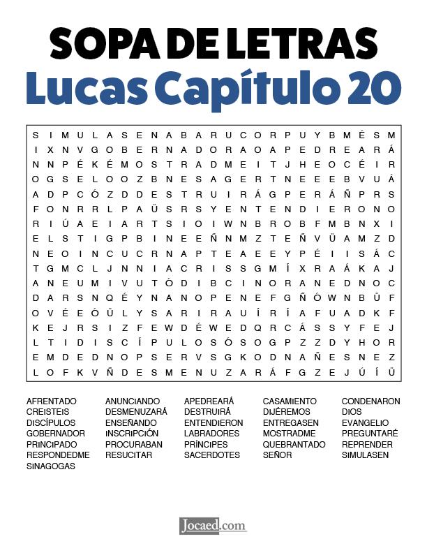 Sopa de Letras - Lucas Cápitulo 20