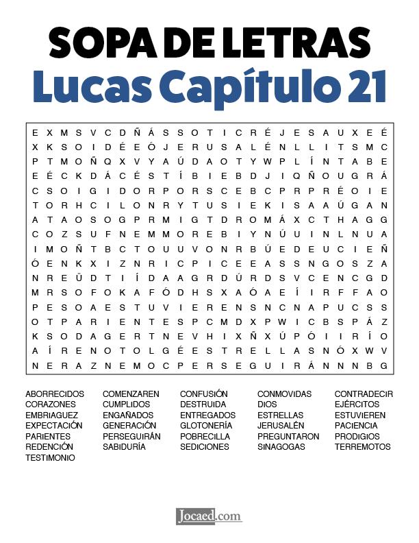 Sopa de Letras - Lucas Cápitulo 21