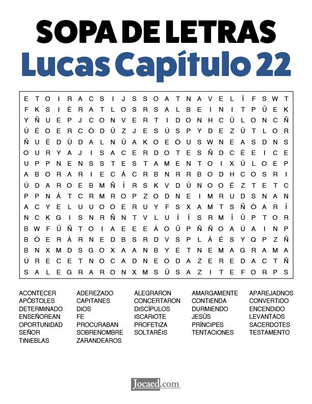 Sopa de Letras - Lucas Cápitulo 22