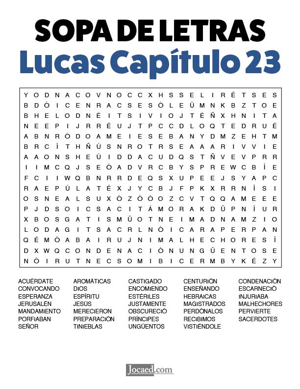 Sopa de Letras - Lucas Cápitulo 23