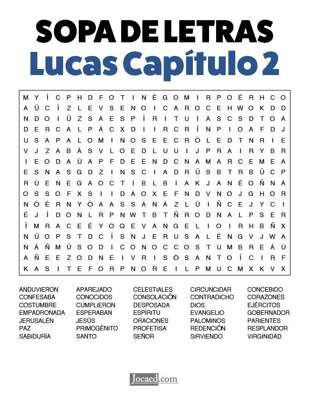 Sopa de Letras - Lucas Cápitulo 2