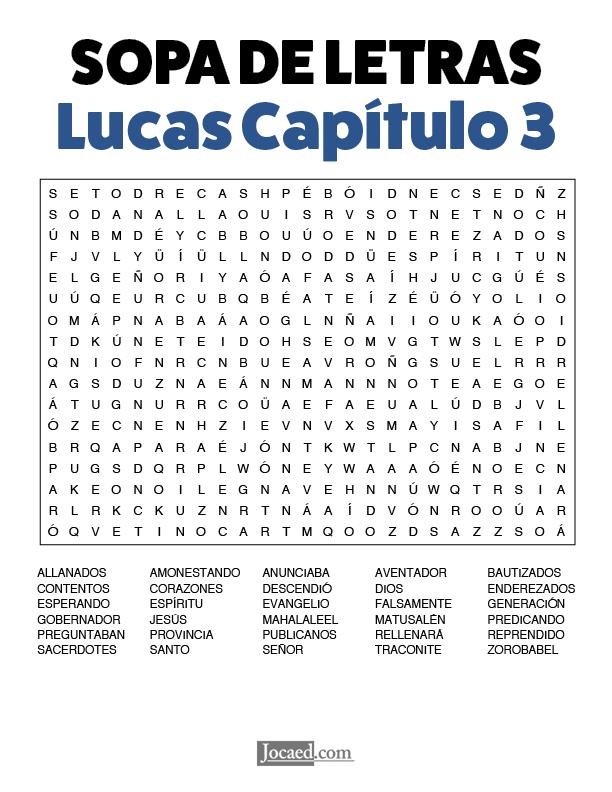 Sopa de Letras - Lucas Cápitulo 3
