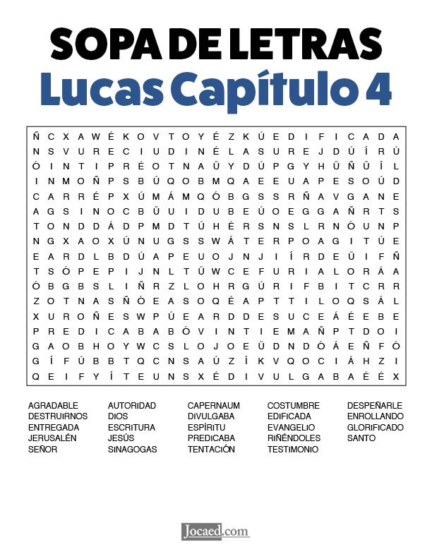Sopa de Letras - Lucas Cápitulo 4