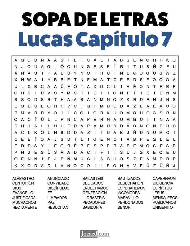 Sopa de Letras - Lucas Cápitulo 7