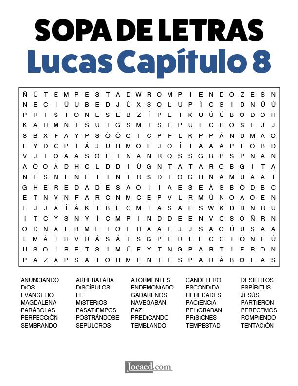 Sopa de Letras - Lucas Cápitulo 8