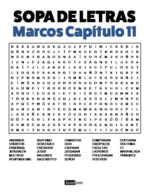 Sopa de Letras - Marcos Cápitulo 11