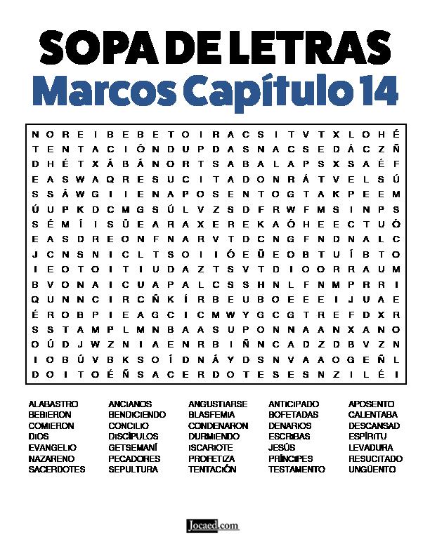 Sopa de Letras - Marcos Cápitulo 14