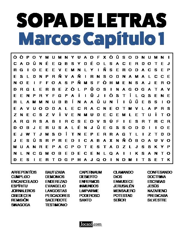 Sopa de Letras - Marcos Cápitulo 1