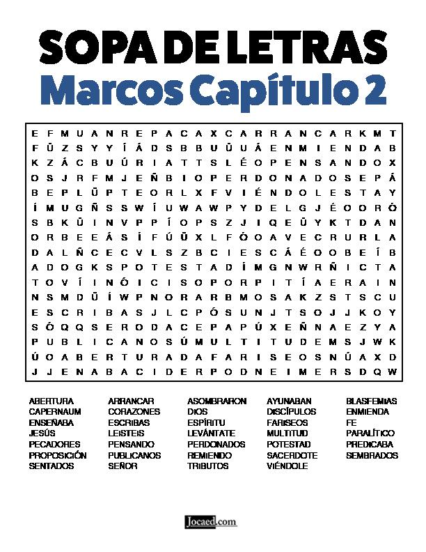 Sopa de Letras - Marcos Cápitulo 2