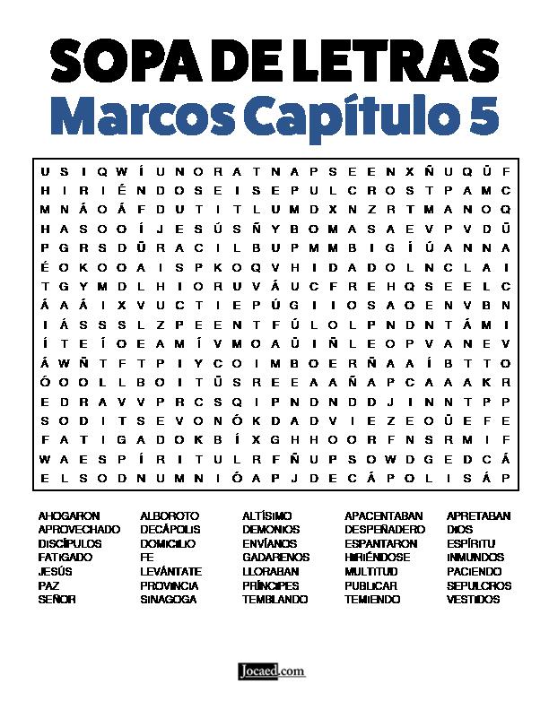 Sopa de Letras - Marcos Cápitulo 5