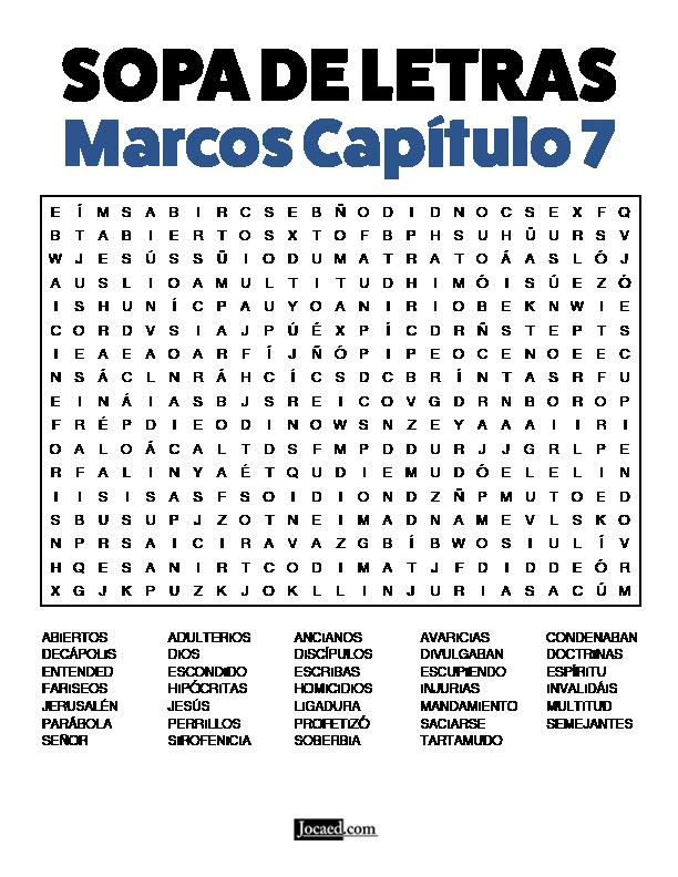 Sopa de Letras - Marcos Cápitulo 7