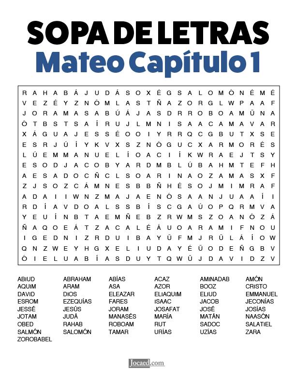 Sopa de Letras - Mateo Cápitulo 1