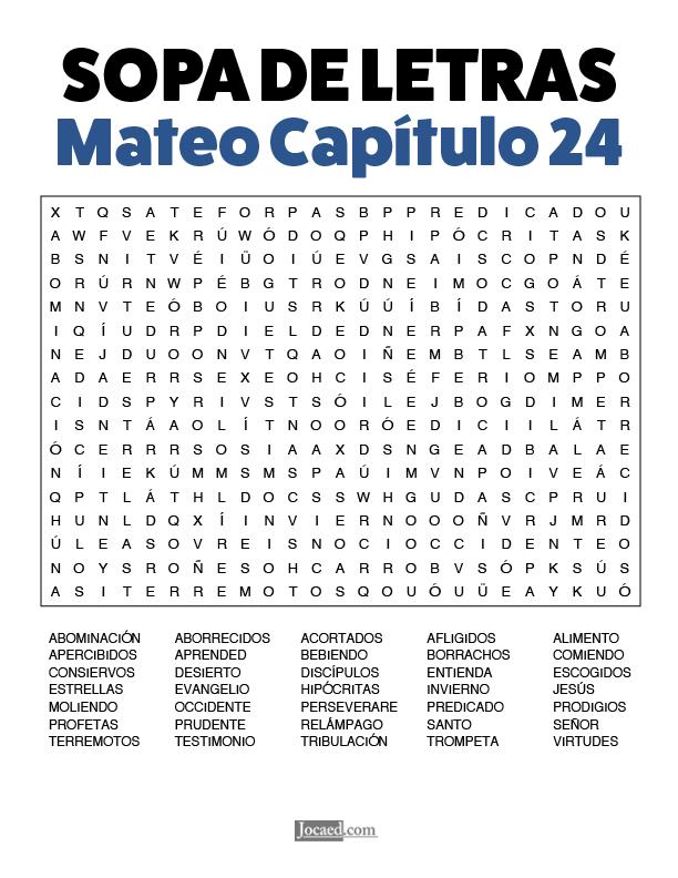 Sopa de Letras - Mateo Cápitulo 24
